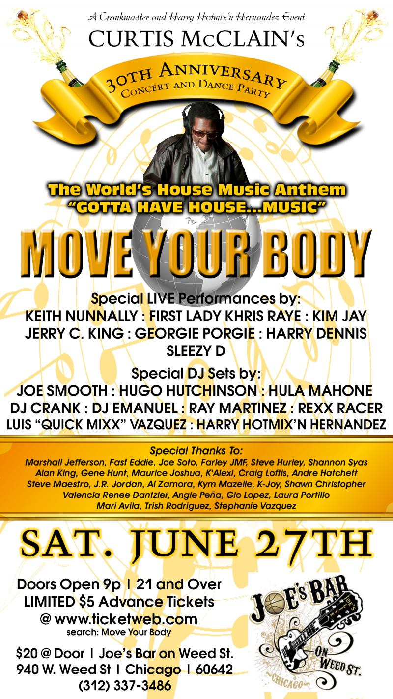 "Curtis McClain 30th Anniversary ""Move Your Body"""