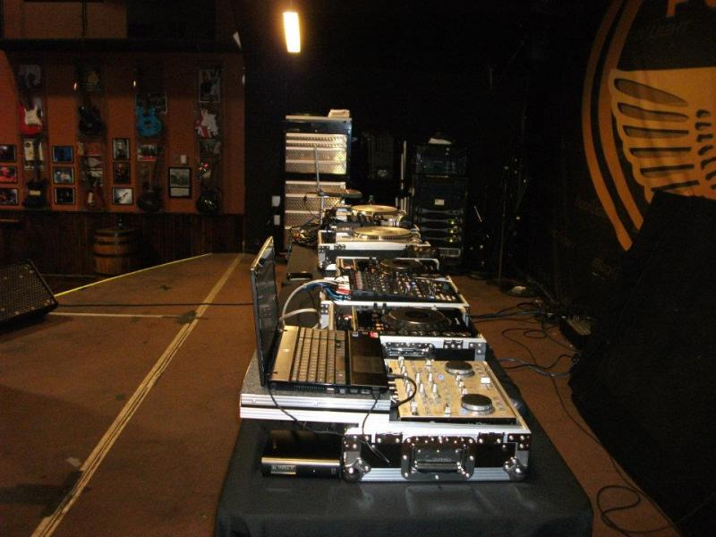 ONE OF SEVERAL SET UP'S - THREE DJ SET UP