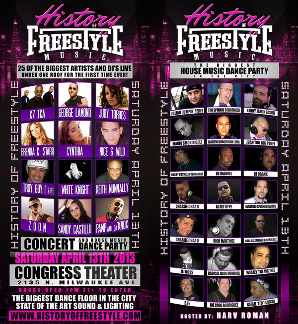 HISTORY OF FREESTYLE CONCERT APRIL 13TH 2K13