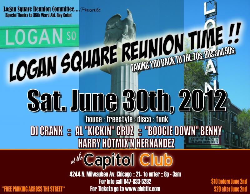 LOGAN SQUARE REUNION SATURDAY JUNE 30TH, 2012