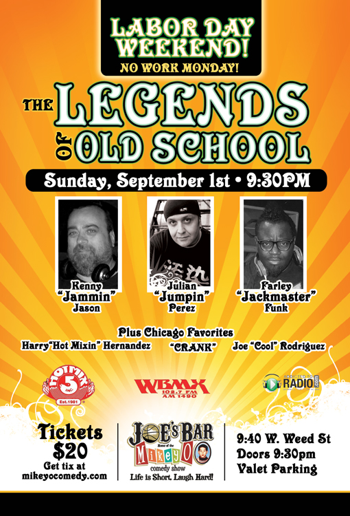 The Legends Of Old School Sept. 1st