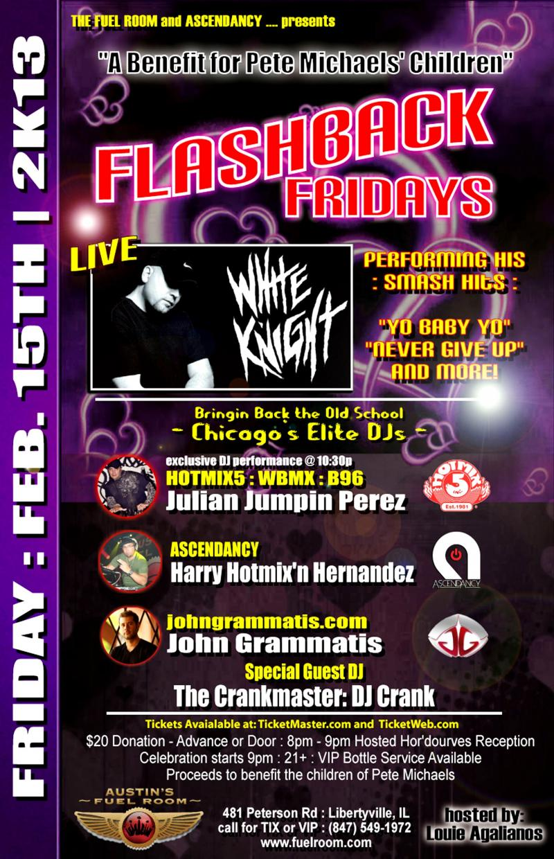 Flashback Fridays Benefit for Pete Michaels' Children