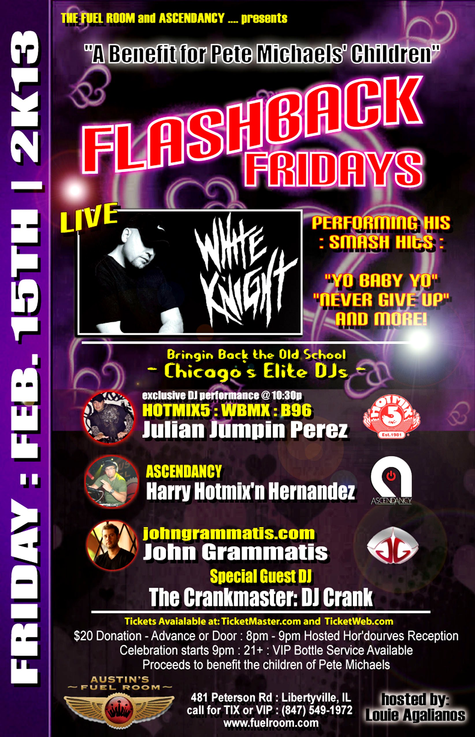 Benefit for Pete Michaels Children Flashback Fridays